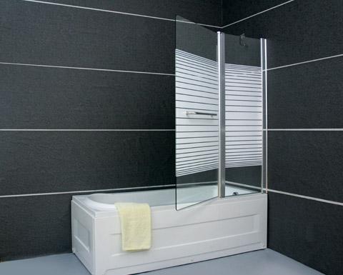 """אמבטיון איכותי 120 במגוון עיצובים זכוכית 6 מ""""מ מחוסמת"""